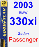 Passenger Wiper Blade for 2003 BMW 330xi - Premium