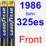 Front Wiper Blade Pack for 1986 BMW 325es - Premium