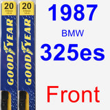 Front Wiper Blade Pack for 1987 BMW 325es - Premium