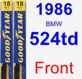 Front Wiper Blade Pack for 1986 BMW 524td - Premium