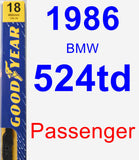 Passenger Wiper Blade for 1986 BMW 524td - Premium