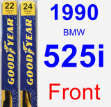 Front Wiper Blade Pack for 1990 BMW 525i - Premium