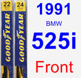 Front Wiper Blade Pack for 1991 BMW 525i - Premium
