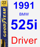 Driver Wiper Blade for 1991 BMW 525i - Premium