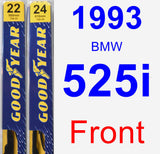 Front Wiper Blade Pack for 1993 BMW 525i - Premium