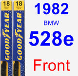 Front Wiper Blade Pack for 1982 BMW 528e - Premium