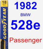 Passenger Wiper Blade for 1982 BMW 528e - Premium