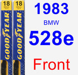 Front Wiper Blade Pack for 1983 BMW 528e - Premium
