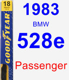 Passenger Wiper Blade for 1983 BMW 528e - Premium