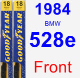 Front Wiper Blade Pack for 1984 BMW 528e - Premium