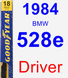 Driver Wiper Blade for 1984 BMW 528e - Premium