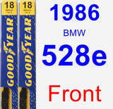 Front Wiper Blade Pack for 1986 BMW 528e - Premium