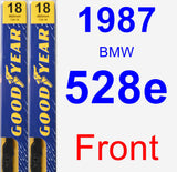 Front Wiper Blade Pack for 1987 BMW 528e - Premium