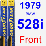 Front Wiper Blade Pack for 1979 BMW 528i - Premium