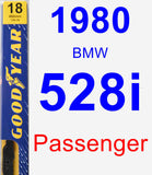 Passenger Wiper Blade for 1980 BMW 528i - Premium