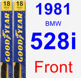 Front Wiper Blade Pack for 1981 BMW 528i - Premium