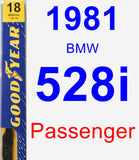 Passenger Wiper Blade for 1981 BMW 528i - Premium