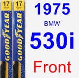 Front Wiper Blade Pack for 1975 BMW 530i - Premium