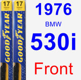 Front Wiper Blade Pack for 1976 BMW 530i - Premium