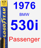 Passenger Wiper Blade for 1976 BMW 530i - Premium