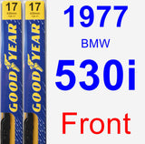 Front Wiper Blade Pack for 1977 BMW 530i - Premium