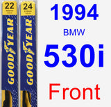 Front Wiper Blade Pack for 1994 BMW 530i - Premium