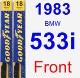 Front Wiper Blade Pack for 1983 BMW 533i - Premium