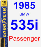 Passenger Wiper Blade for 1985 BMW 535i - Premium