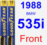 Front Wiper Blade Pack for 1988 BMW 535i - Premium