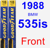 Front Wiper Blade Pack for 1988 BMW 535is - Premium