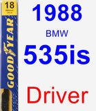 Driver Wiper Blade for 1988 BMW 535is - Premium
