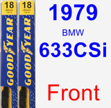 Front Wiper Blade Pack for 1979 BMW 633CSi - Premium