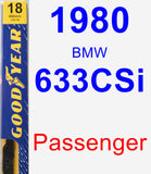Passenger Wiper Blade for 1980 BMW 633CSi - Premium