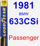 Passenger Wiper Blade for 1981 BMW 633CSi - Premium