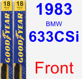Front Wiper Blade Pack for 1983 BMW 633CSi - Premium