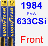 Front Wiper Blade Pack for 1984 BMW 633CSi - Premium