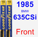 Front Wiper Blade Pack for 1985 BMW 635CSi - Premium