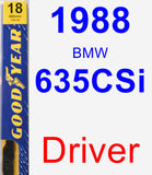 Driver Wiper Blade for 1988 BMW 635CSi - Premium