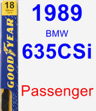 Passenger Wiper Blade for 1989 BMW 635CSi - Premium