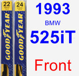 Front Wiper Blade Pack for 1993 BMW 525iT - Premium