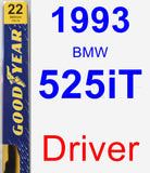 Driver Wiper Blade for 1993 BMW 525iT - Premium