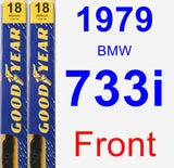 Front Wiper Blade Pack for 1979 BMW 733i - Premium