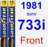 Front Wiper Blade Pack for 1981 BMW 733i - Premium