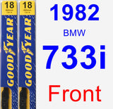 Front Wiper Blade Pack for 1982 BMW 733i - Premium