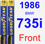Front Wiper Blade Pack for 1986 BMW 735i - Premium