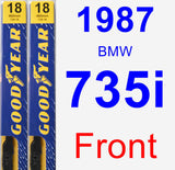 Front Wiper Blade Pack for 1987 BMW 735i - Premium