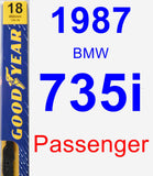 Passenger Wiper Blade for 1987 BMW 735i - Premium