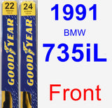 Front Wiper Blade Pack for 1991 BMW 735iL - Premium