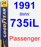 Passenger Wiper Blade for 1991 BMW 735iL - Premium