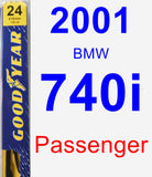 Passenger Wiper Blade for 2001 BMW 740i - Premium